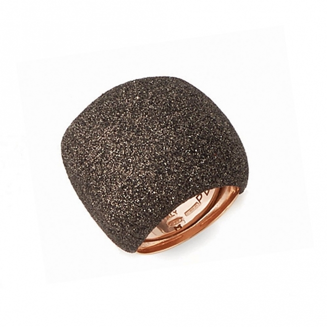 Polvere di Sogni Pink Sterling Silver & Brown Dust Ring