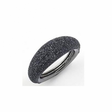 Polvere di Sogni Ruthenium Sterling Silver Grey Dust Anello Domed Ring