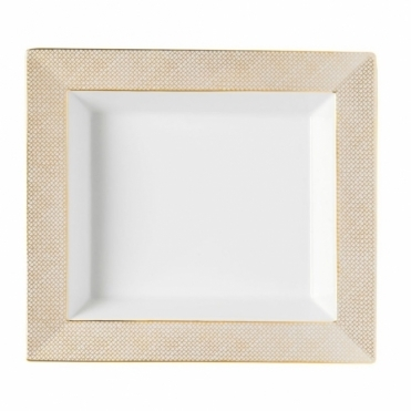 Porcelain Gold Mesh Dish 21 x 18.5cm