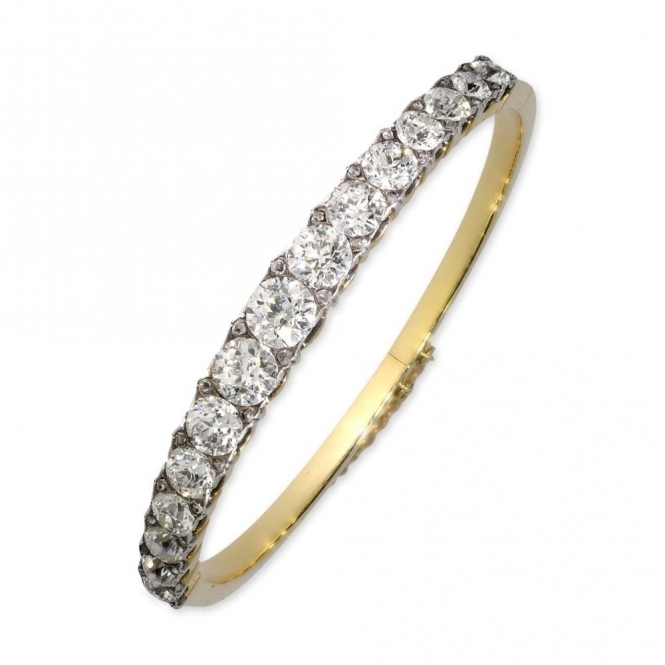 Pre owned Yellow Gold Diamond Bangle circa 1930's