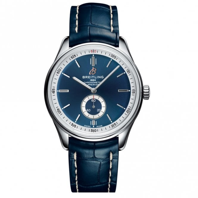 Wharton Goldsmith: Premier Automatic 40mm With Blue Dial And Alligator Strap