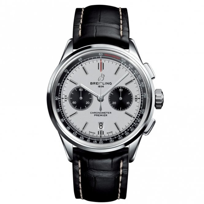 Premier B01 Chronograph 42 with Silver and Black Dial