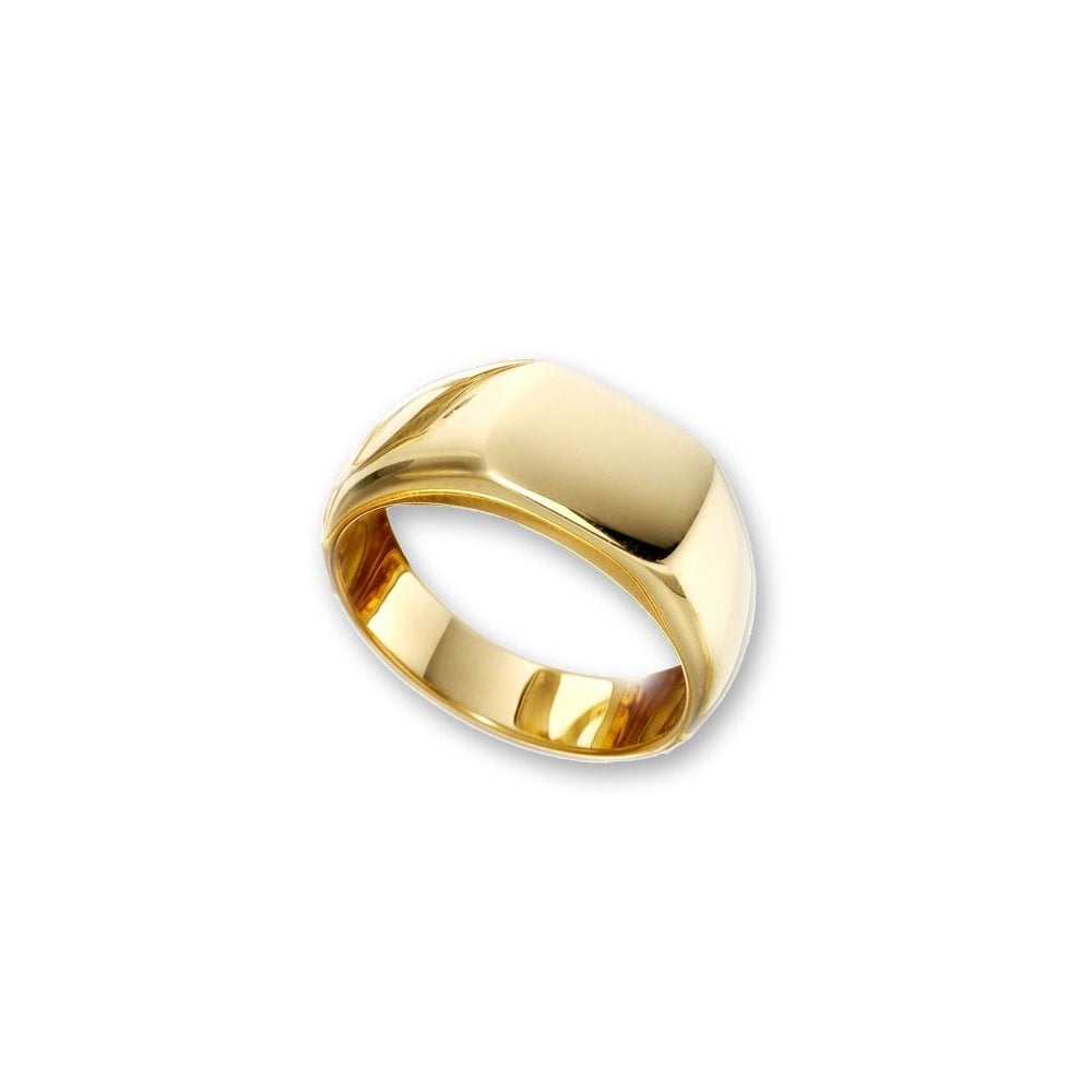 8973112040369 Mens 18ct Yellow Gold Cushion Signet Ring