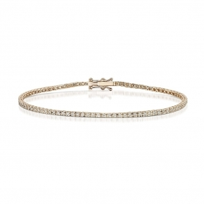 18 Rose Gold Diamond Line Bracelet
