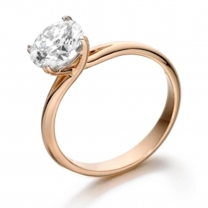 18ct Rose Gold Crossover Diamond Engagement Ring