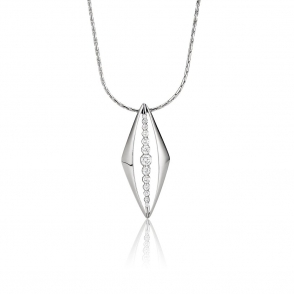 18ct White Gold Diamond Pendant. Design No. 1V20A