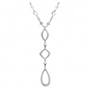 18ct White Gold Diamond Pendant. Design no. 1W80A