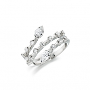 18ct White Gold Diamond Ring. Design No. 1V38A