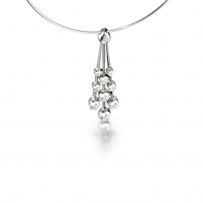 18ct White Gold Diamond Set Pendant. Design No. 1T39A
