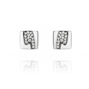 18ct White Gold Fusion Pave Set Diamond Studs