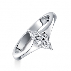 18ct White Gold Marquise Diamond Set Ring. Design No. 1Q31A