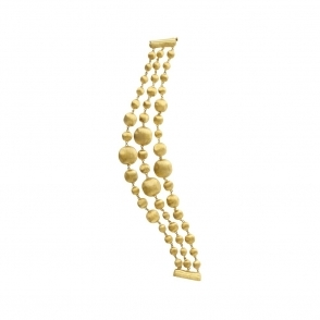 18ct Yellow Gold 3 Strand Africa Bead Bracelet