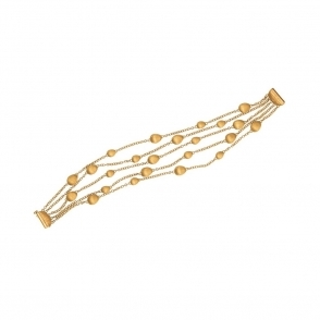 18ct Yellow Gold 5 Strand Confetti Oro Bracelet