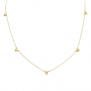 18ct Yellow Gold & Diamond Askill Necklace