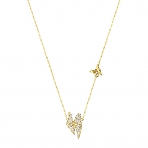 18ct Yellow Gold Diamond Askill Pendant