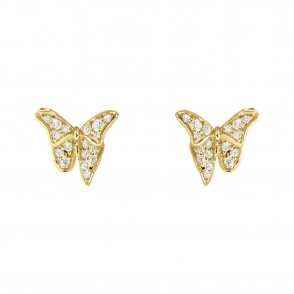18ct Yellow Gold & Diamond Askill Stud Earrings