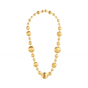 18ct Yellow Gold Graduating Bead Africa Necklace