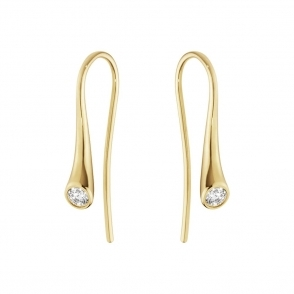 18ct Yellow Gold Magic Diamond Ear Hooks