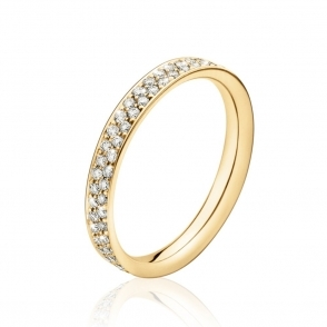 "18ct Yellow Gold ""Magic"" Pave Set Diamond Multi Stone Ring"