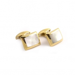 18ct Yellow Gold Mother of Pearl Cufflinks