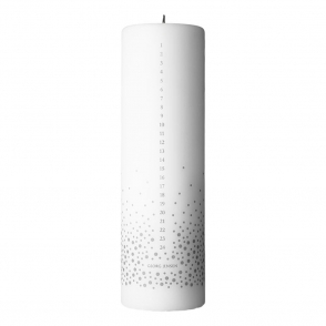 2017 Christmas Silver Print Advent Candle
