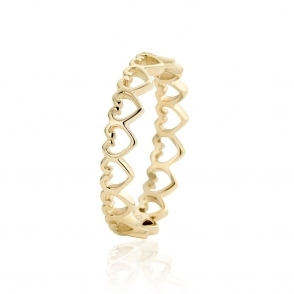 9ct Gold Heart Affinity Stacking Ring