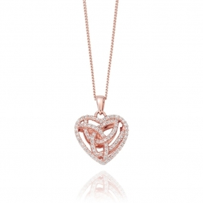 9ct Rose Gold Diamond Eternal Love Pendant