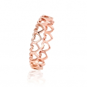 9ct Rose Gold Heart Affinity Stacking Ring