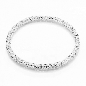 Allegro Skinny Silver Bangle