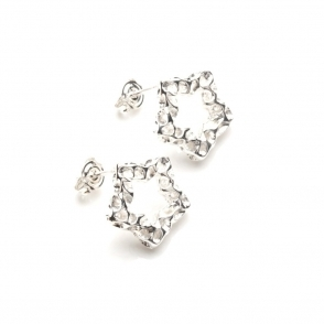 Allegro Star Silver Stud Earrings