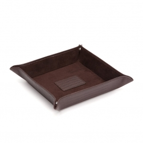 Blake Coin Tray in Brown Teju Lizard Finish