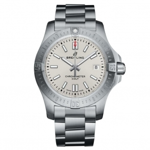 Breitling Chronomat Colt 41 Automatic Chronometer Silver Dial