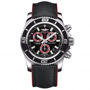 Breitling Superocean Chrono M2000 Quartz Chronograph with Red Index - A73310A8/BB72