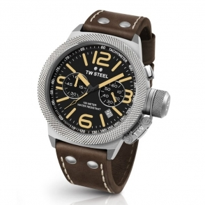 Canteen 50mm Quartz Chronograph with Machined Bezel