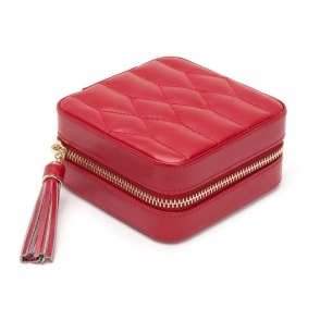 Caroline Zip Jewellery Case in Red