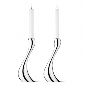Cobra Candleholders Pair - Large