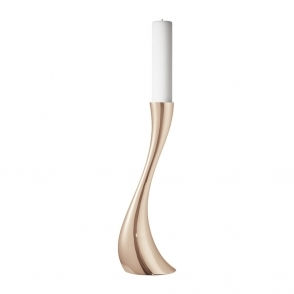 Cobra Rose Gold Floor Candleholder Medium