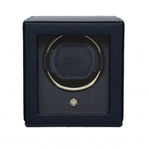 Cub Single Watch Winder with Cover in Navy