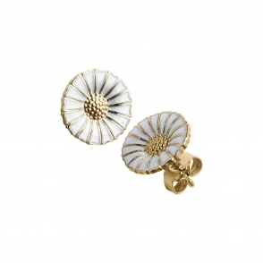 Daisy Gold Plated and Enamel Earrings