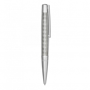 Defi Ballpoint Pen in Brush Palladium Swirl Pattern Finish