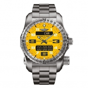 Emergency Watch with Personal Locator Beacon in Titanium with Cobra Yellow dial - E76325G2/I520