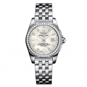 Galactic 29mm Ladies Quartz Watch with Diamond Bezel and Dial