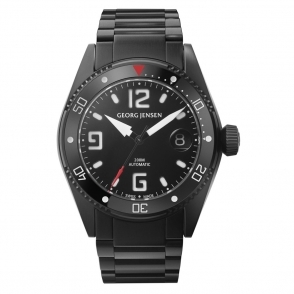 Georg Jensen  D42-ST70 Delta Dive 42mm automatic watch in Black PVD steel - 3575605