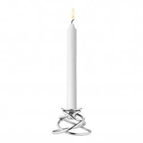 Glow Stainless Steel Candleholder