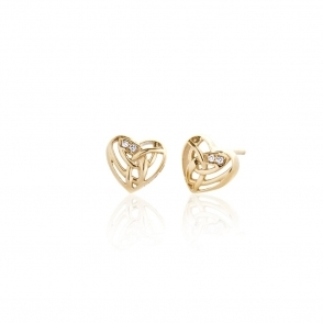 Gold & Diamond Eternal Love Stud Earrings