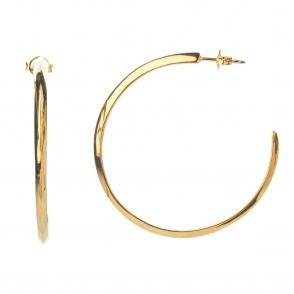 Gold Vermeil Venom Plain Hoop Earrings