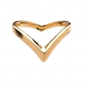 Gold Vermeil Venom Plain Wishbone Ring