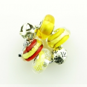Group 2 Silver and Glass Yellow Trollbeads Kit RRP £210