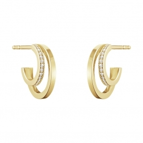 Halo 18ct Yellow Gold Diamond 1633A Hoops