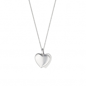 Hearts of Georg Jensen Sterling Silver Pendant 579A